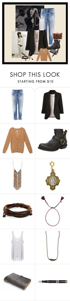 """Patti Smith"" by thesnakeden ❤ liked on Polyvore featuring H&M, NSF, Fiorentini + Baker, Adia Kibur, 1928, West Coast Jewelry, Jewel Rocks, Enza Costa, 31 Bits and Brixton"