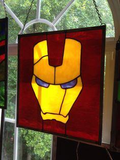 Minimalist Iron Man Stained Glass by SenatorMars on DeviantArt