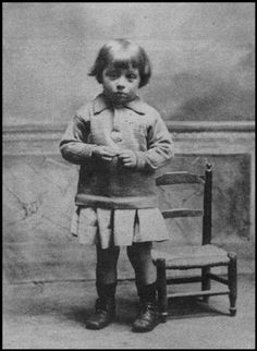 Roland Barthes as a child