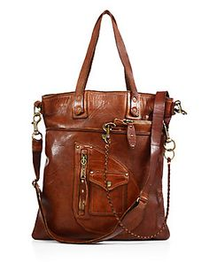 Polo Ralph Lauren Distressed Leather Tote Bag