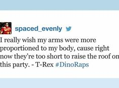 """Spaced_evenly, who came up with a killer dino rap: 