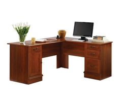 """OfficeMax has the Sauder Traditional L-Shaped Desk for a low $169.99 Free Shipping after Coupon Code: """"BIGDEAL30"""""""