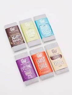 Nice packaging work designed by Kelly Thompson of Theo Chocolate, Inc. Candy Packaging, Vintage Packaging, Beer Packaging, Food Packaging Design, Pretty Packaging, Packaging Design Inspiration, Packaging Snack, Biscuits Packaging, Design Typo