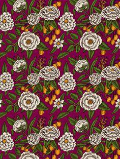 Aitch - Floral Deign Print Pattern Textile