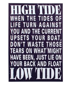 Another great find on #zulily! 'High Tide Low Tide' Canvas #zulilyfinds