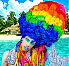 #ryanjasterina #makeup #hairroinsalon #wig #dragqueen #rupaulsdragrace #cosplay #bighair #waves #texture #fashion #camp #style #art #behindthechair #modernsalon #hairbrained #hairnerd #hollywood #アステライナ