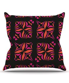 Take a look at the Orange on Black Tile Square Throw Pillow on #zulily today!