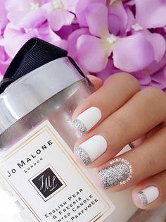 Modern Twist nails for modern bride.