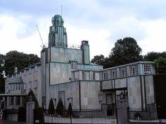 HOFFMAN. Palacio Stoclet, 1905-11, Bruselas. Secession. Modernismo lineal. Decorado por KLIMT.