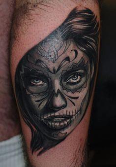 #skull #girl #tattoo #muerte #west #london #ink #hammersmithtattoo