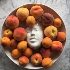 Pottery Plates, Ceramic Pottery, Pottery Art, Ceramic Art, Pottery Sculpture, Portrait Sculpture, Stone Fruit, Sweet Peach, Kintsugi