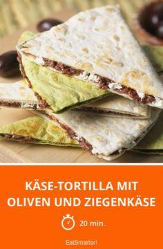 Käse-Tortilla mit Oliven und Ziegenkäse - smarter - Zeit: 20 Min. | eatsmarter.de