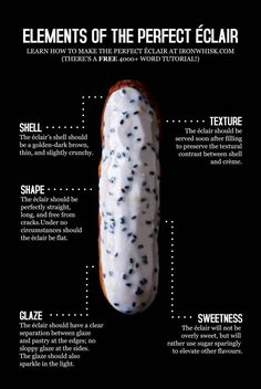 Éclairs & Choux Paste Perfecting the French Éclair: A Word Tutorial That Covers Every Little Detail Profiteroles, Eclairs, Macarons, French Desserts, Just Desserts, Gourmet Desserts, French Recipes, Eclair Patisserie, French Patisserie