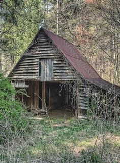 Barn Set Deep In The Trees