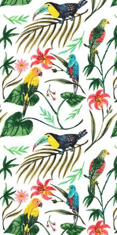 #Tropical #Birds. #Casetify #iPhone #Art #Design #Illustration #Nature #Animals Wild Animal Wallpaper, Bird Wallpaper, Summer Wallpaper, Iphone Wallpaper, Wallpaper Designs, Happy Birthday Art, Jungle Art, Textile Pattern Design, Tropical Birds