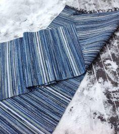 Denim Rug, Woven Rug, Beach Mat, Crochet Patterns, Outdoor Blanket, Weaving, Rugs, Diy, Inspiration