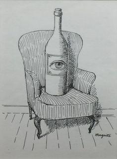 """René MAGRITTE (1898-1967): """"A perte de vue, illustration pour « Poèmes »"""". Reproduction lithographique, signée dans la planche en bas à droite. Dim: 19 x 14 cm - Chochon-Barré et Allardi - 06/10/2017Fosterginger.Pinterest.ComMore Pins Like This One At FOSTERGINGER @ PINTEREST No Pin Limitsでこのようなピンがいっぱいになるピンの限界"""