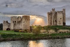 Trim Castle in County Meath, Ireland, built by Hugh de Lacy is the largest Anglo-Norman castle in Ireland built in 1176
