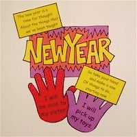 Handprint New Year's Resolution Craft - Pinned by @PediaStaff – Please visit http://ht.ly/63sNt for all (hundreds of) our pediatric therapy pins