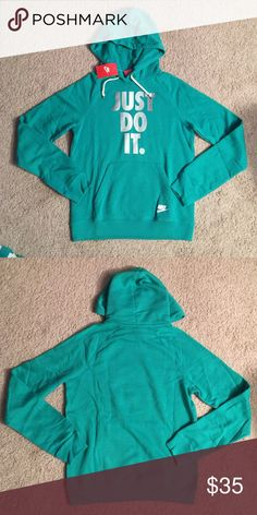 """Nike """"Just Do It"""" Hoodie Nike """"Just Do It"""" Hoodie Brand new with tags   Front pockets  Hoodie with drawstring Relaxed Hoodie Nike Tops Sweatshirts & Hoodies"""