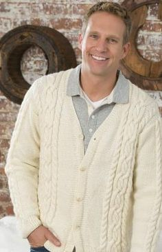 Knitted Man's Cardigan Free Pattern / Craft Passions