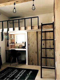 Small room design – Home Decor Interior Designs Loft Beds For Small Rooms, Small Room Design Bedroom, Small Apartment Bedrooms, Home Room Design, Home Bedroom, Small Teen Room, Space Saving Bedroom, Small Loft, Bedroom Loft
