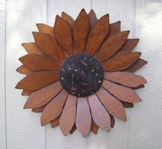 Sunflower - 2 feet wide, Sculptured Metal Sunflower, Sunflower Wall Hanging, via Etsy.