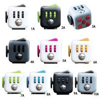 Multi Colors Fidget Cube Children Toy Adults Fun Stress Relief Cubes Xmas Gifts