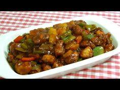 (135) Cómo hacer pollo agridulce como en los restaurantes chinos (Receta fácil y deliciosa) - YouTube Thai Chicken Curry, Chinese Chicken, Chinese Food, Tasty Videos, Antipasto, Chicken Recipes, Food And Drink, Cooking Recipes, Yummy Food