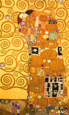 "gustav klimt ""fulfilment"". What patterns do you see?"