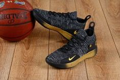c58f199eab8a Eye-catching Nike Zoom KD 11 EP Black Gold Men s Basketball Shoes Kevin  Durant Sneakers