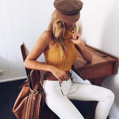 Mustard style   Autumn basics   Style   Mura Boutique Shelby Top, $45.00!!! Mont Blanc Jeans, $49.00!!!! Shop --> www.muraboutique.com.au #muraboutique
