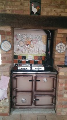 Lovely solid fuel/wood Rayburn Nouvelle Range Cooker, Furnishings, Indoor, Aga Kitchen, Rayburn Cookers, Wood, Cooking Stove, Wood Stove, Wood Stove Cooking