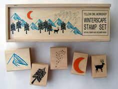 Winterscape Stamp Set from Yellow Owl Workshop