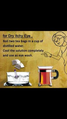 Dry eye itch Health Remedies, Home Remedies, Natural Remedies, Dry Itchy Eyes, Detox Cleanse Drink, Dry Eye, Distilled Water, Helpful Hints, The Cure
