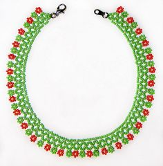 Free pattern for necklace Herbal  Click on link to get pattern - http://beadsmagic.com/?p=7668