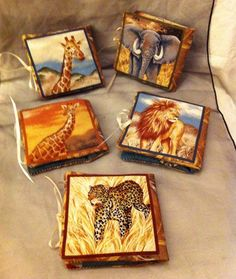 African animal needle cases