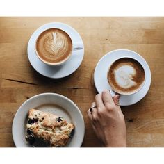 """""""Cappuccinos and a blueberry scone. Good morning, Baton Rouge!"""" Photo taken by @mchltckr on Instagram, pinned via the InstaPin iOS App! http://www.instapinapp.com (06/25/2015)"""