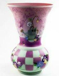 Fenton connoisseur collection rose trellis