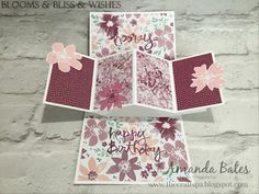 The Craft Spa - Stampin' Up! UK independent demonstrator : Blooms & Bliss Wishes Square Pop Up Panel Card
