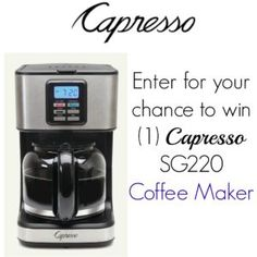 The Capresso SG220 Coffee Maker Giveaway! Ends 11/13 (Enter Today & Good Luck!) ~ Deliciously Savvy