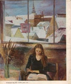 "Magazine ""Ogonek"" 1978  Art, posters and prints of a woman or women reading repinned by www.AboutHarry.com"