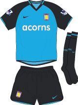 Aston Villa Football Kits Away Kit 2008-2009
