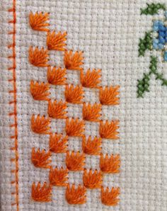 Gaby Bravo's media content and analytics Swedish Embroidery, Hardanger Embroidery, Diy Embroidery, Cross Stitch Embroidery, Embroidery Patterns, Cross Stitch Borders, Cross Stitch Designs, Cross Stitching, Cross Stitch Patterns