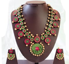 365 likes · 21 talking about this. Kotta Krazy is the eco friendly Custom made Terracotta Jewelry created by. Diy Fabric Jewellery, Thread Jewellery, Funky Jewelry, Paper Jewelry, Handmade Jewelry, Terracotta Jewellery Making, Terracotta Jewellery Designs, Teracotta Jewellery, Quilling Designs