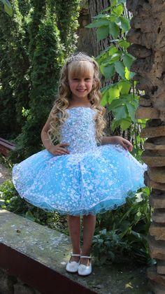 Vestido de azul aguamarina blanco lavanda por KingdomBoutiqueUA