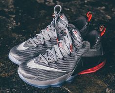 Nike LeBron 12 Low | Wolf Grey & Hot Lava