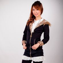 Leopard Jacket with Hood