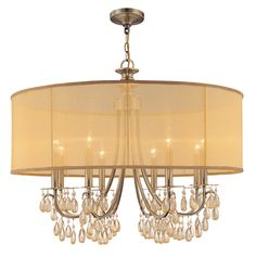 Crystorama Lighting 5628-AB 8 Light Hampton Chandelier