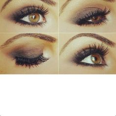 Eye makeup for brown eyes. I just want plum eyeshadow